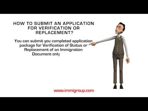 How to submit an application for Verification or Replacement?
