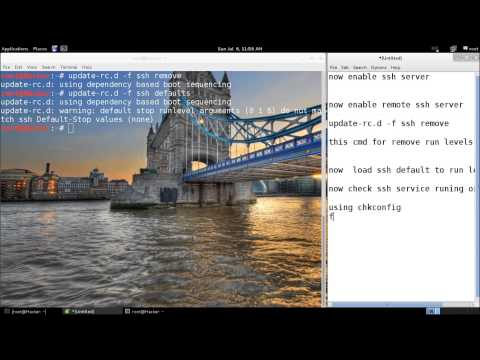 How to configure openSSH server in Kali Linux