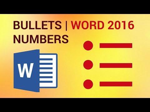 Custom Numbering and Bulleting in Word 2016