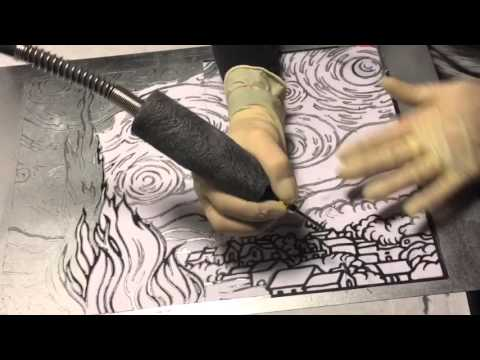 Steel Carving with Rotary tool for Dremel Make this contest Van Gogh Starry Night