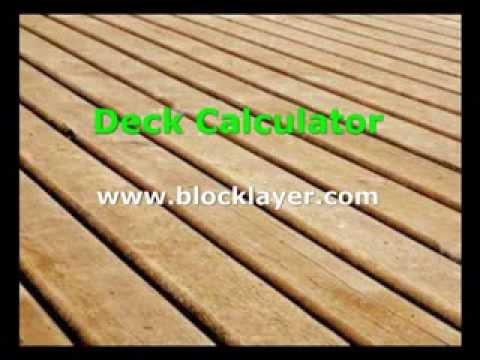 Deck Board Calculator - www.blocklayer.com