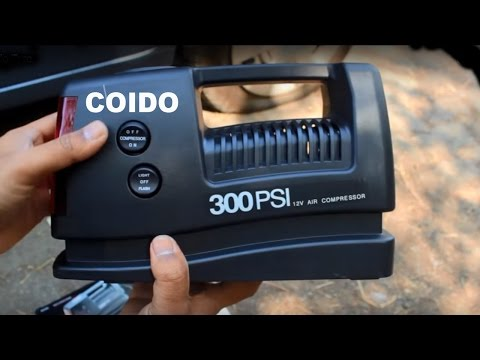 Coido 12V 300PSI Electric CAR TIRE AIR Inflator - Puncture Repair - Video Demo