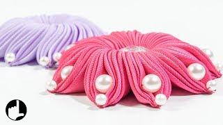 DIY Ribbon Flower: Art and Craft Ideas by HandiWorks #124