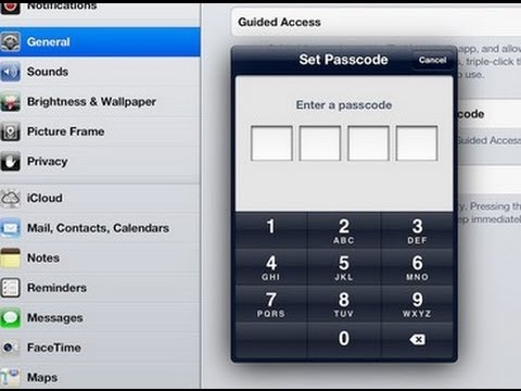 How to put Ipad in GUEST USER mode with guided access