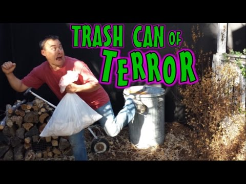 Pneumatic Jumping Trash Can Scare Prop For Halloween