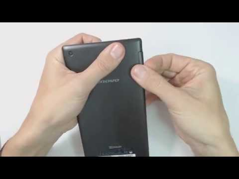 Lenovo Tab 2 A7-30 - How to put sim card and memory card