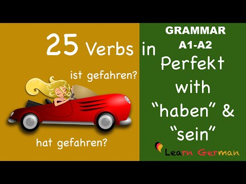 Learn German |  25 Verbs in Perfect with helping verbs