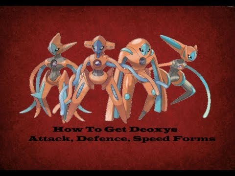Pokemon Black/White 2 How To Get Deoxys Other Forms