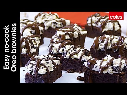 Easy no-cook Oreo brownies