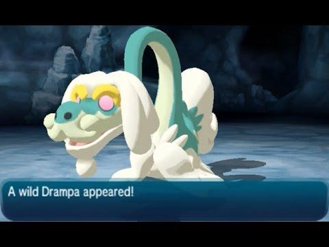 Drampa Location - Pokémon (Ultra) Moon Exclusive