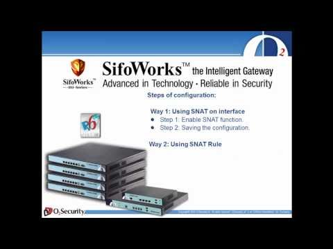 How to configure SNAT Function  On SifoWorks DU series Firewall