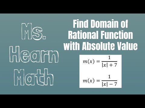 Find domains of Rational Functions involving Absolute Value