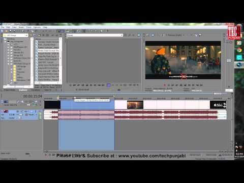 Split/Cut/Remove Audio form a Video in Sony Vegas
