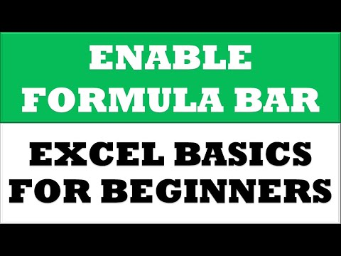 How to Bring back Formula Bar in Microsoft Excel Spreadsheet 2016