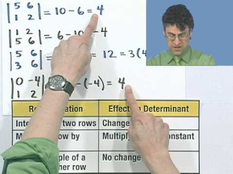 Evaluating a Determinant Using Elementary Row Operations