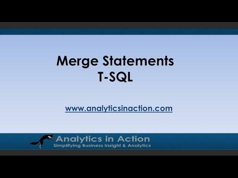 Merge Statements in T-SQL