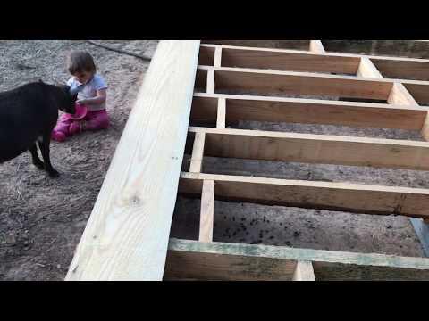 Cross Bracing and Leveling the Barn Floor