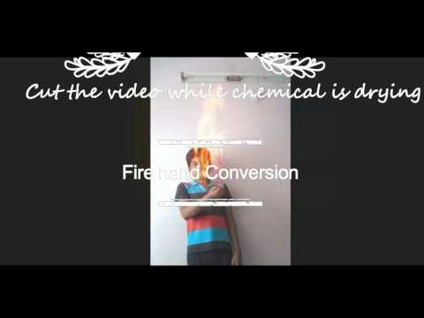 Created fire on hand using Adob after effect