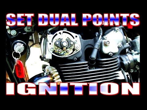 Set dual points ignition on a 350-450 Honda, dynamic timing