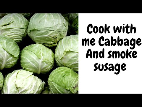 how to prepare cabbage and smoked sausage