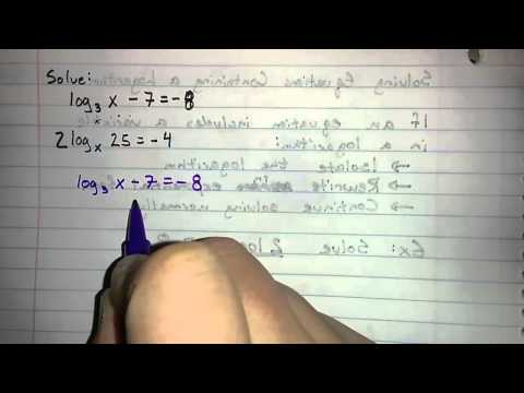 6.3.2 - Solving Equations Involving Logarithms