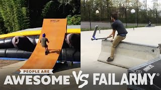 Skate Ollies, Dancing, Slackline & More Wins VS. Fails | People Are Awesome VS. FailArmy
