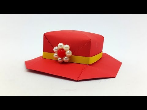 How to make Paper Hat for Girls (Origami Hat) - Adorable Paper Crafts