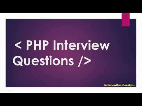 php interview questions | php developer interview questions