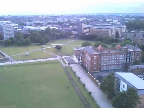 Onboard Camera in London on an RC Piper Mini Super Cub in Shoreditch Park 2nd Flight