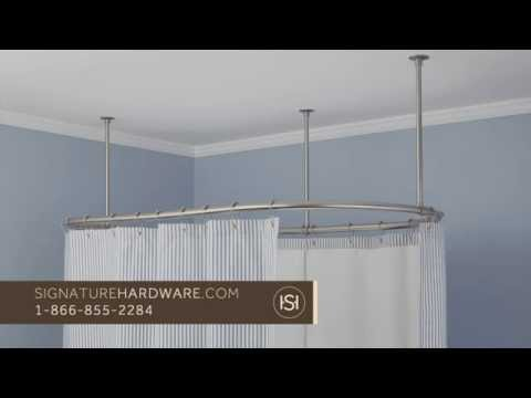 How to Install a Corner Shower Curtain Rod