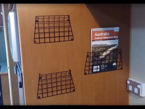 DIY project, I make a wire mesh Pamphlet, Tourist Brochure and Map holder for our Caravan RV