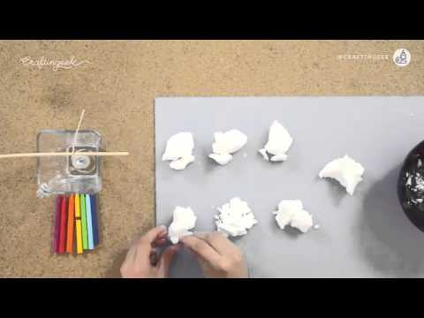 How to make candles rainbow crayon