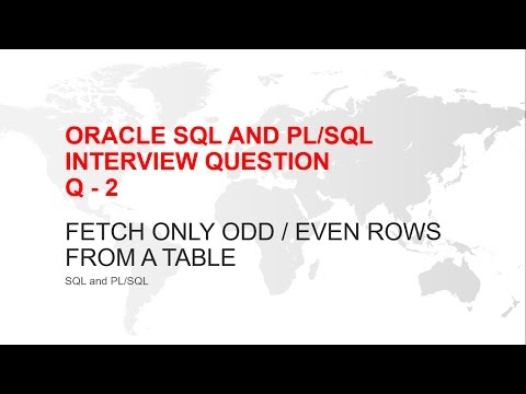 ORACLE SQL INTERVIEW QUESTION : HOW TO SELECT ODD OR EVEN ROWS FROM A TABLE IN ORACLE