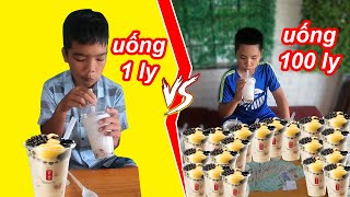 Ai Uống Được Nhiều Trà Sữa Nhất Sẽ Thắng 10 Triệu | TQ97