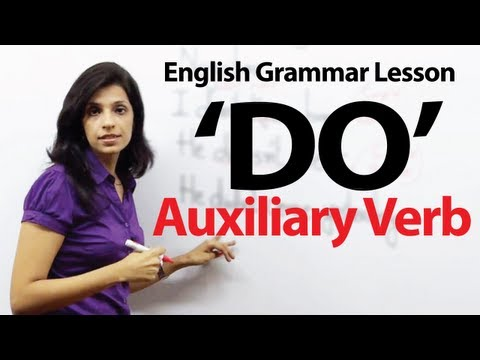 English Grammar Lessons - Auxiliary Verb - 'DO