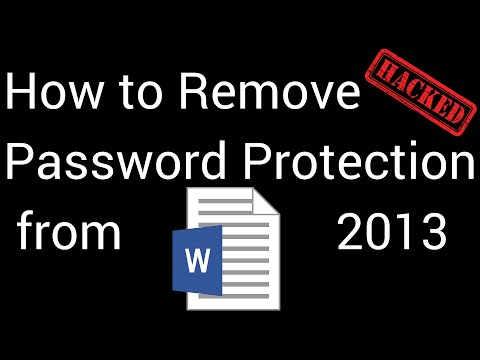How To Remove Password Protection in Word 2013