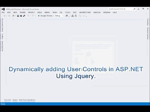 How to add usercontrol dynamically in ASP.NET using Jquery.