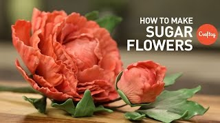 How To Make Sugar Flowers For Cakes Gumpaste Cake Decorating Tutorial