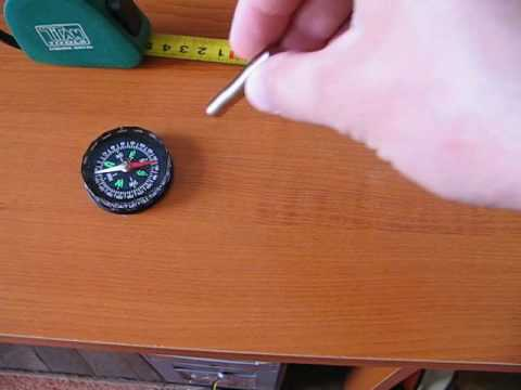 compass with magnets