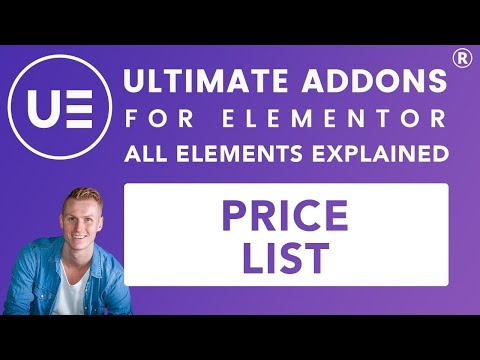 Ultimate Addons Elementor | Price List