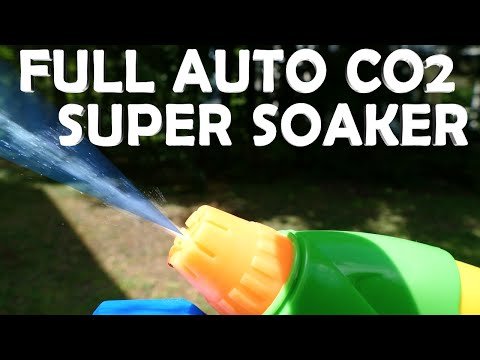DIY Fully Automatic Super Soaker! - Powerful CO2 Water Gun!!!