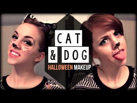 Cat & Dog Glam Halloween Hair & Make Up Tutorial | Kimtrovert