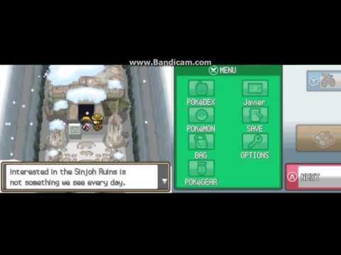 Pokemon HeartGold / Soul Silver Sinjoh Ruins (Arceus Event)