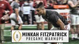 Watch Minkah Fitzpatrick warm up before the 2018 CFP National Championship