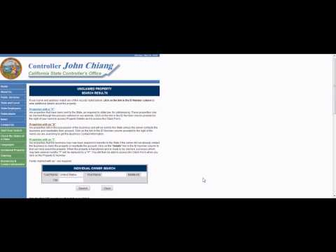 Part 5, How to obtain Unclaimed Property for free from Discovered Money, nonprofit org