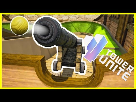 SHOOTING GOLF BALLS FROM CANNONS! (Tower Unite)