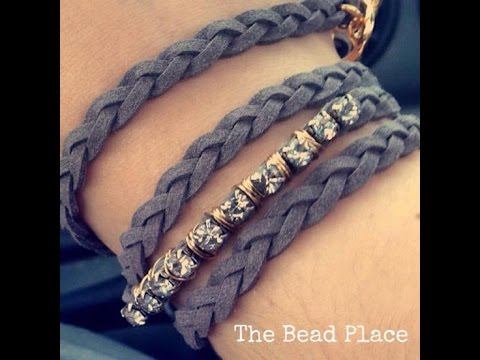 How To Make A Braided Bling Wrap Bracelet DIY With The Bead Place