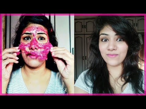 Get Pinkish Glowing Soft Smooth Baby Skin With this Peel off Mask Naturally /Home remedy
