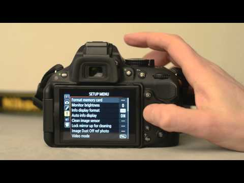 The Nikon D5200 Formatting the memory card - youtube