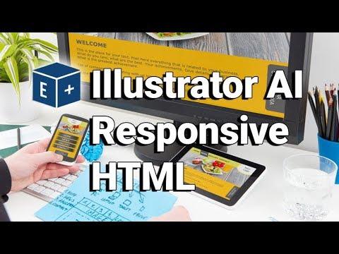 Convert Illustrator AI to Responsive HTML   Adobe CC Plugin